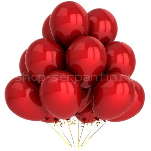 Гелиевый шар красный