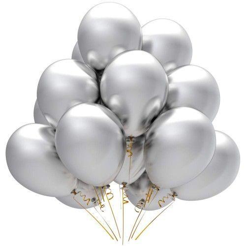 Гелиевый шар серебро