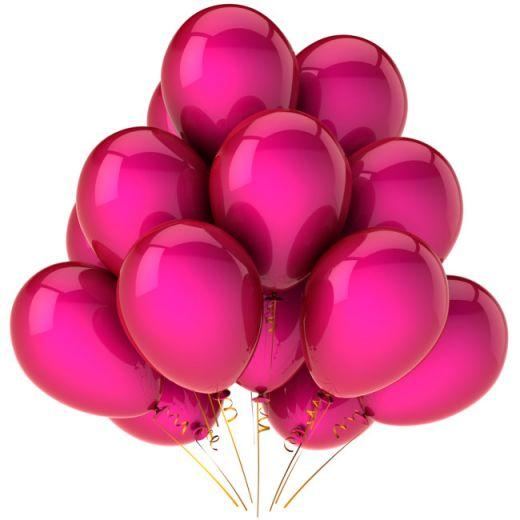 Гелиевый шар пурпурный