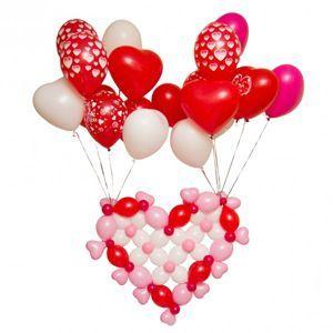 """Сердце из воздушных шаров """"Сердце в облаках"""""""