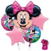 Набор гелиевых фольгированных шаров Минни Маус